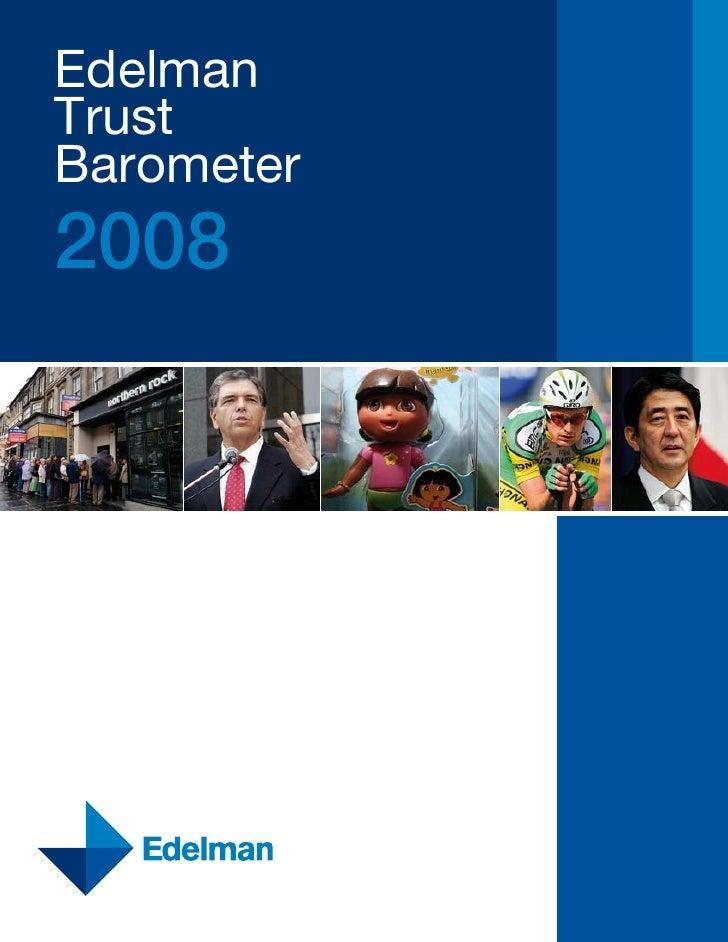 Edelman Trust Barometer 2008