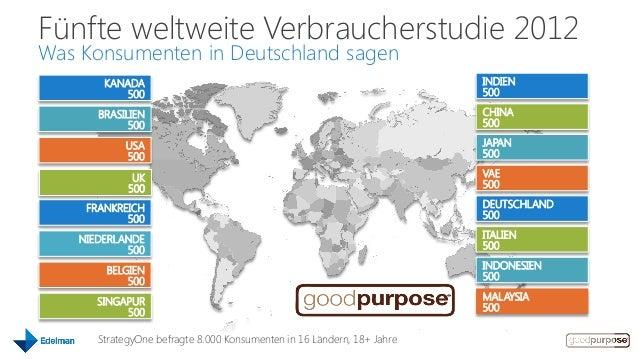Fünfte weltweite Verbraucherstudie 2012Was Konsumenten in Deutschland sagen        KANADA                                 ...
