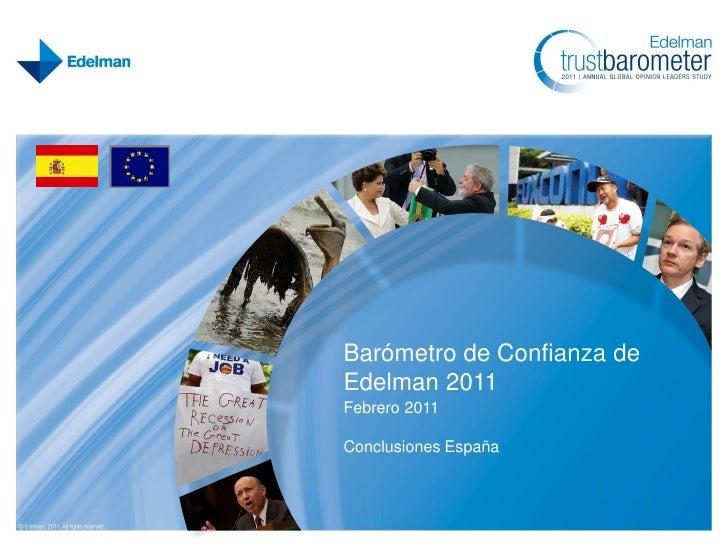 Edelman Trust Barometer 2011