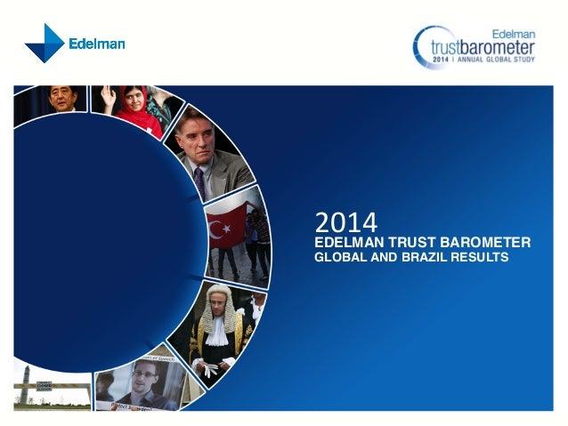 2014 Edelman Trust Barometer: Brazil Findings