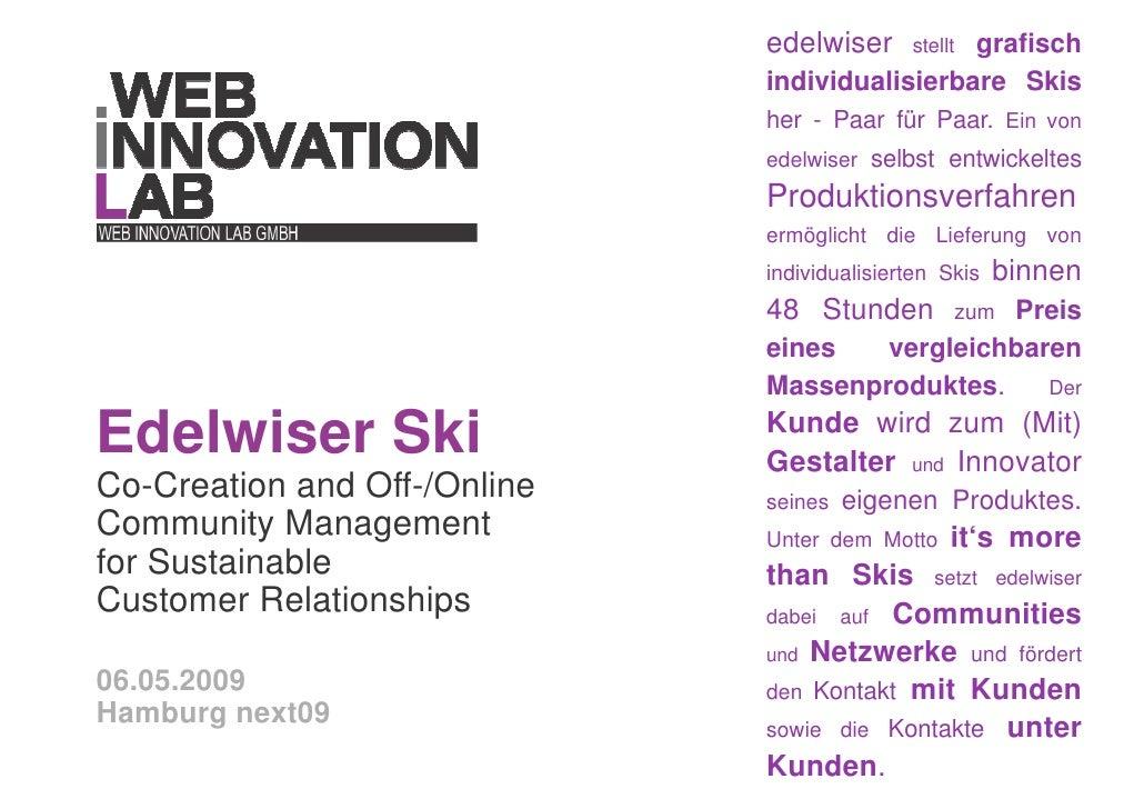 Edelwiser Ski - Sharing - next09 - Web Innovation Lab