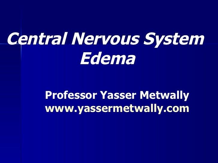 Central Nervous System  Edema Professor Yasser Metwally www.yassermetwally.com