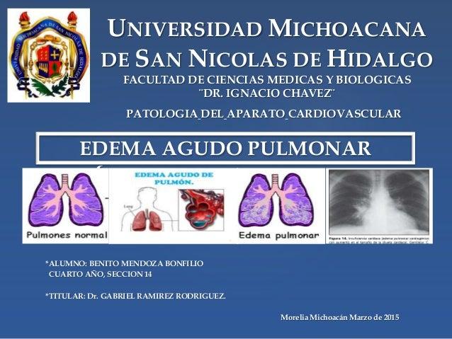 { UNIVERSIDAD MICHOACANA DE SAN NICOLAS DE HIDALGO FACULTAD DE CIENCIAS MEDICAS Y BIOLOGICAS ¨DR. IGNACIO CHAVEZ¨ *ALUMNO:...