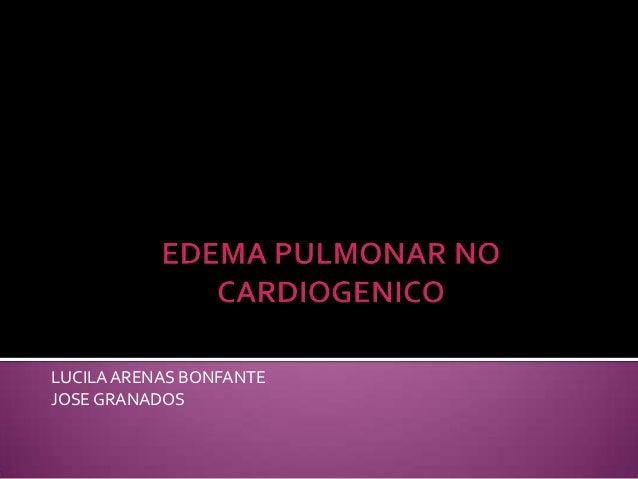 Edema pulmonar no cardiogenico 12
