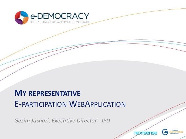 eDemocracy2012 Gezim Jashari_myRepresentative