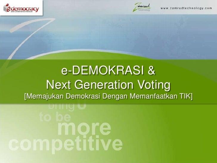 Smart Democracy & Voting
