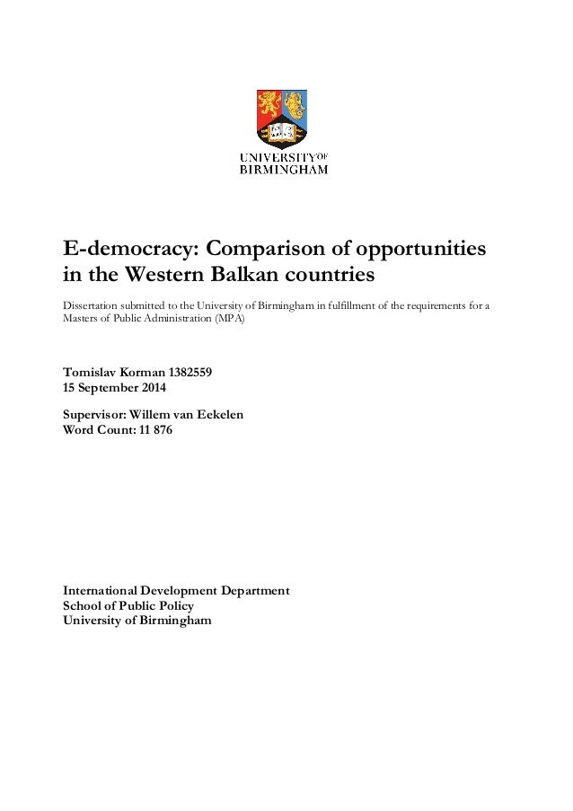 Compare / Contrast Two State Government IT Security Policies dissertation paper