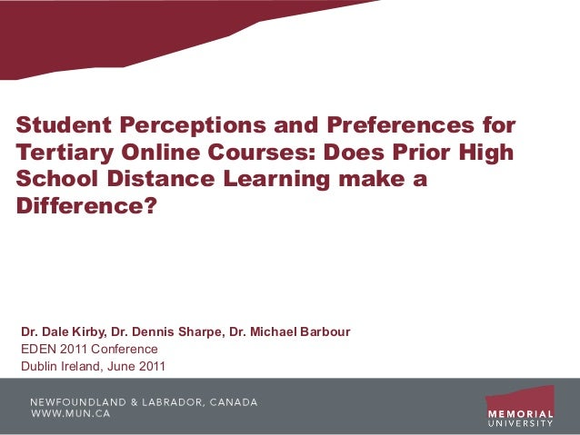 Student Perceptions and Preferences forTertiary Online Courses: Does Prior HighSchool Distance Learning make aDifference?D...