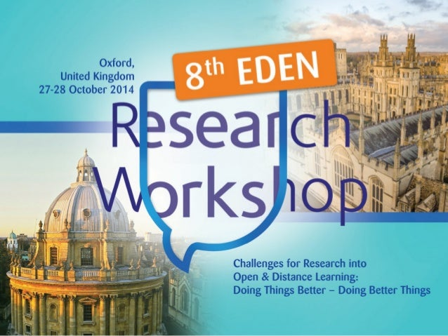 Join us to the EDENRW8 Research Workshop in Oxford