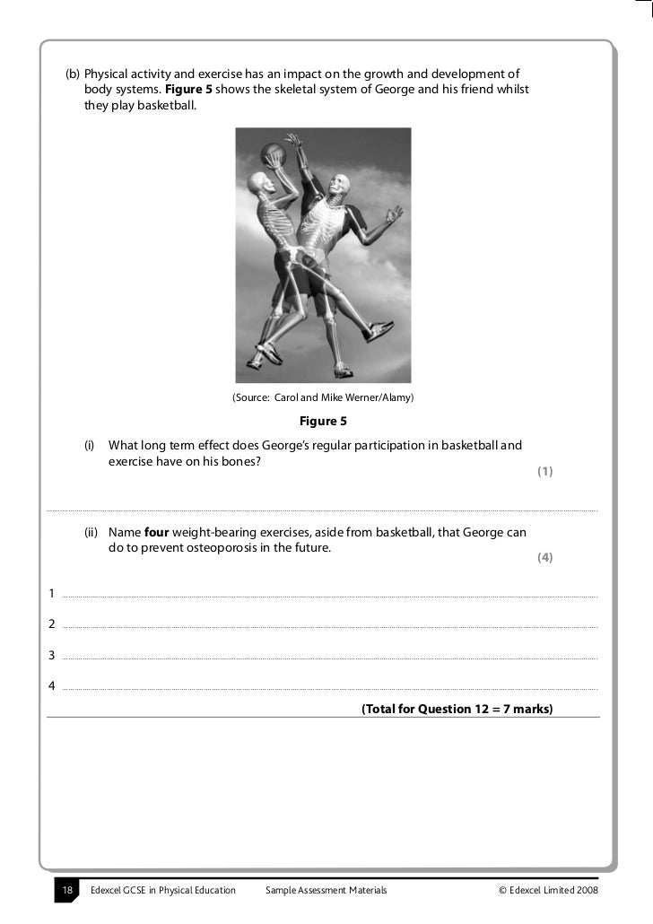 Edexcel GCSE PE More Sample Assessment Material