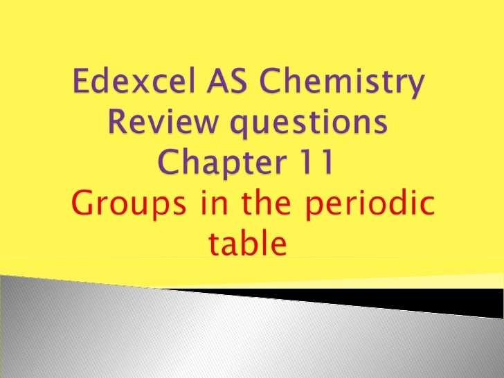 Edexcel AS chemistry chapter 11