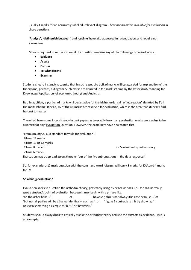 Sample economics papers (Units 1-4) & Mark - SlideShare