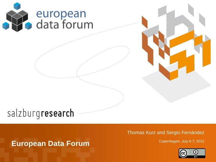 Thomas Kurz and Sergio Fernández                                       Copenhagen, July 6-7, 2012    European Data Forum©