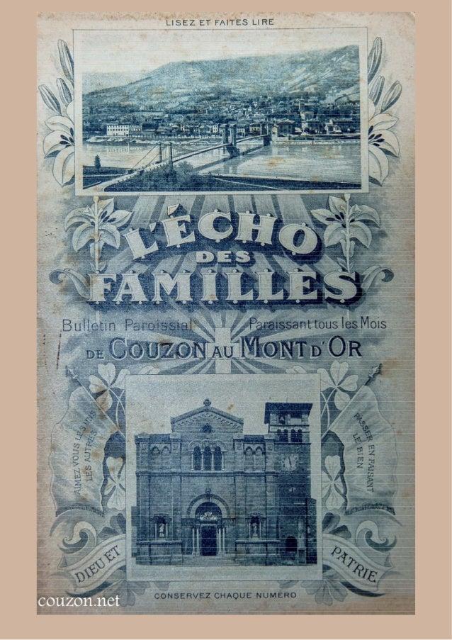 L'écho des Familles - mai1910 - Couzon au mont d'or