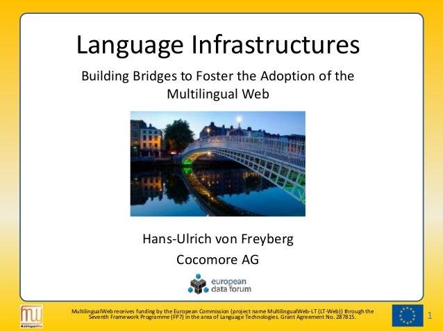 EDF2013: Language Technology Panel, Hans-Ulrich von Freyberg: Language Infrastructures