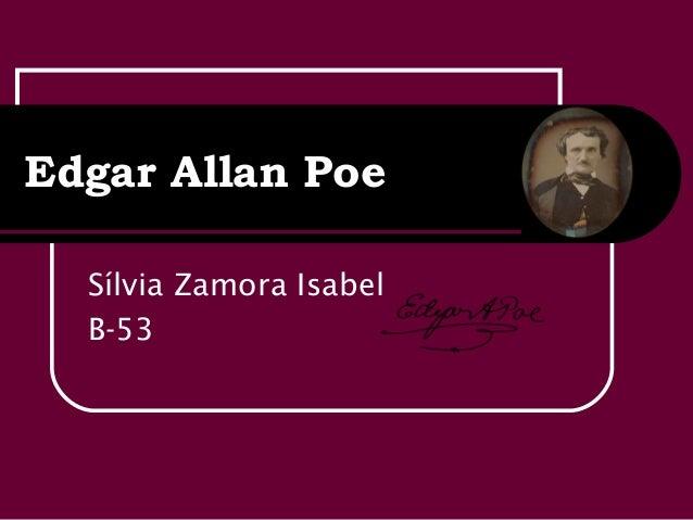 Edgar Allan PoeSílvia Zamora IsabelB-53