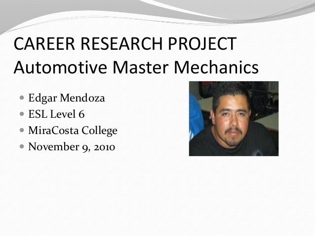 Edgar career research project