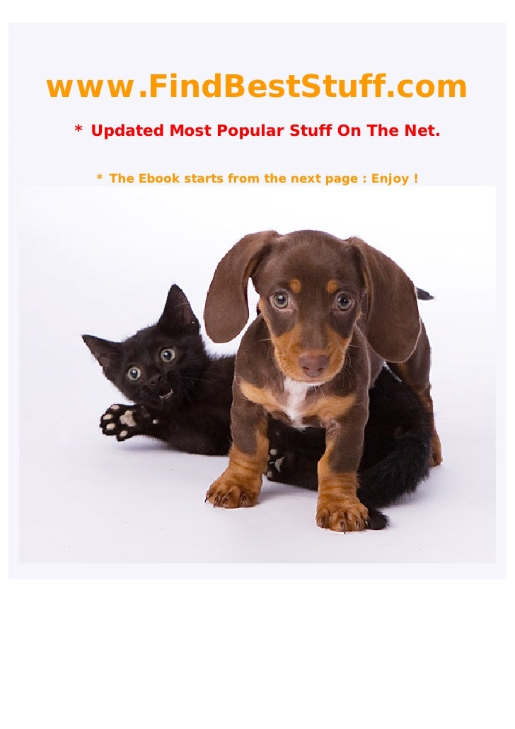 www.FindBestStuff.com  * Updated Most Popular Stuff On The Net.     * The Ebook starts from the next page : Enjoy !