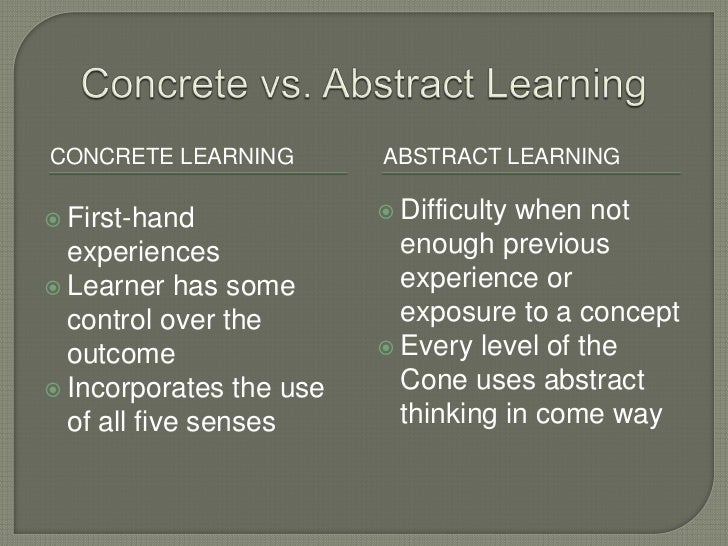 Concrete Vs. Abstract Words?