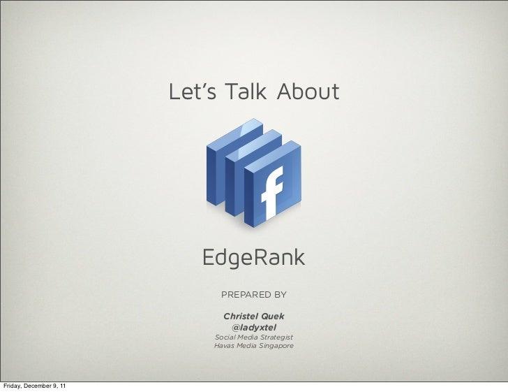 Facebook's Edgerank- Understanding It for Content Curation