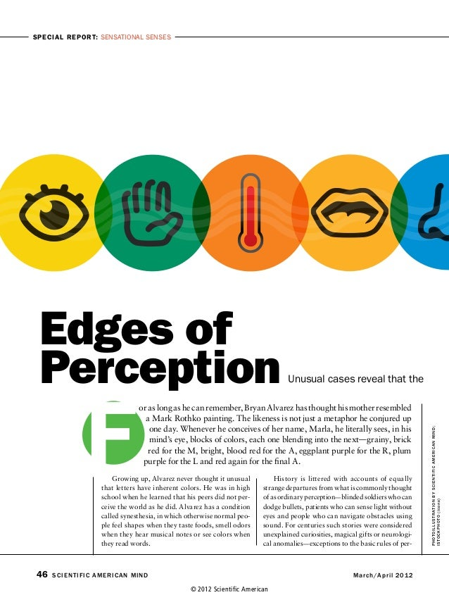 Edges of perception