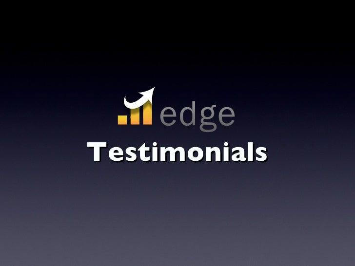 Edge Testimonials