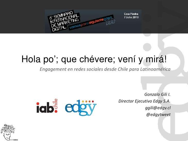 Presentación Gonzalo Gili en #IAB2010