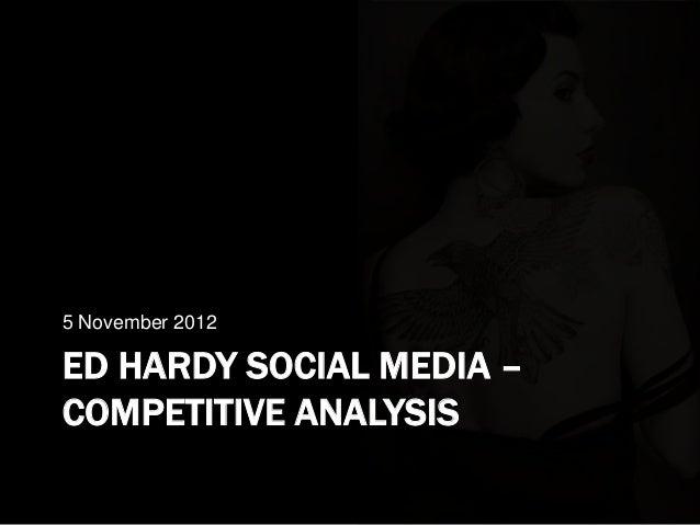 5 November 2012ED HARDY SOCIAL MEDIA –COMPETITIVE ANALYSIS