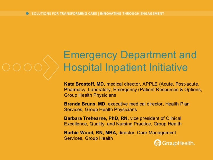 Emergency Department/Hospital Inpatient Initiative
