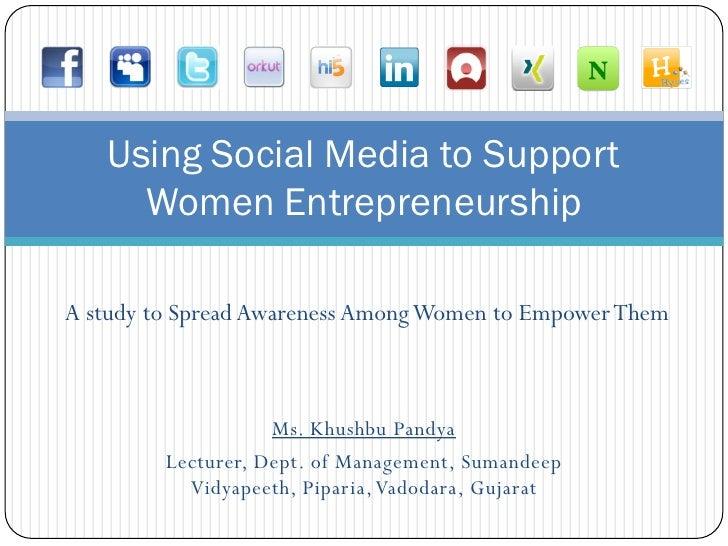 Social Media for Women Entrepreneur