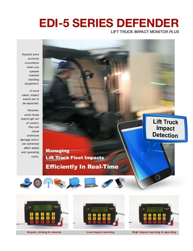 EDI 5 Lift truck impact detection, monitoring systems