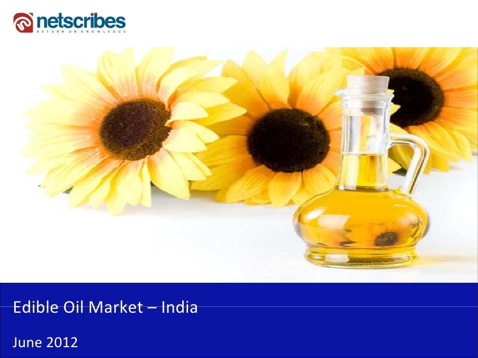 Insert Cover Image using Slide Master View                            Do not distortEdibleOilMarket–Edible Oil Market I...