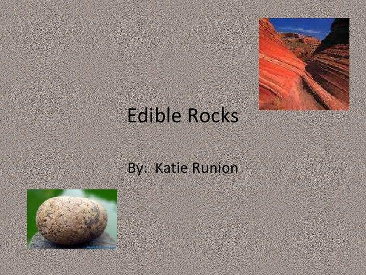 Edible Rocks Final
