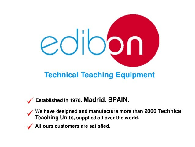 Technical Teaching Equipment Established in 1978. Madrid.  SPAIN.  We have designed and manufacture more than 2000 Technic...