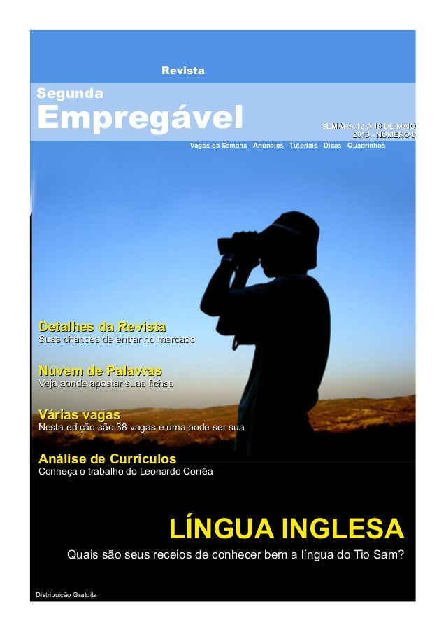 RevistaVagas da Semana - Anúncios - Tutoriais - Dicas - QuadrinhosSSEEMMAANNAA 1122 AA 1199 DDEE MMAAIIOO22001133 -- NNÚÚM...