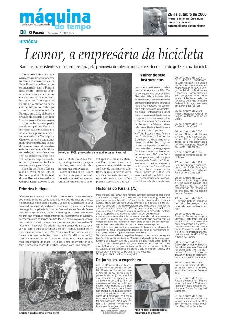 LEONOR HONORÊ VIERO A DAMA DA MODA