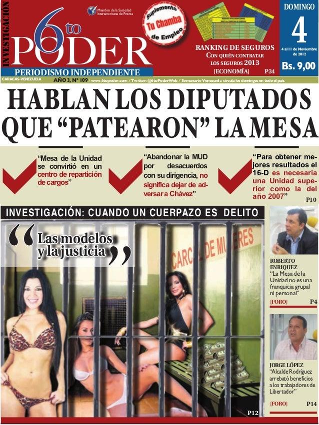 6INVESTIGACIóN                                                Caracas, 4 al 11 de noviembre de 2012                       ...
