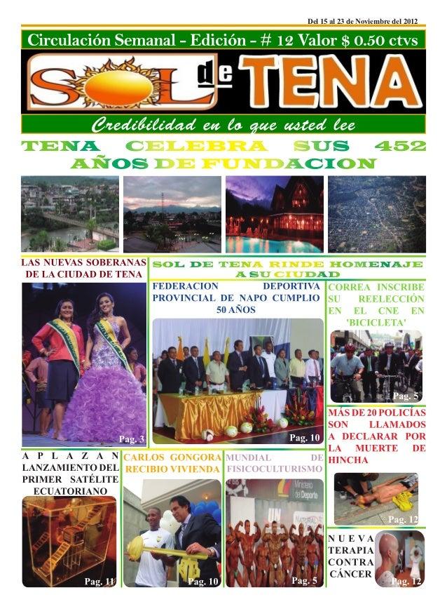 Del 15 al 23 de Noviembre del 2012