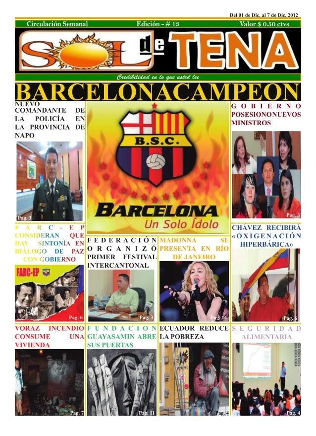 Credibilidad en lo que usted lee                                         Edición 13     2      soldetena2012@live.comsolde...