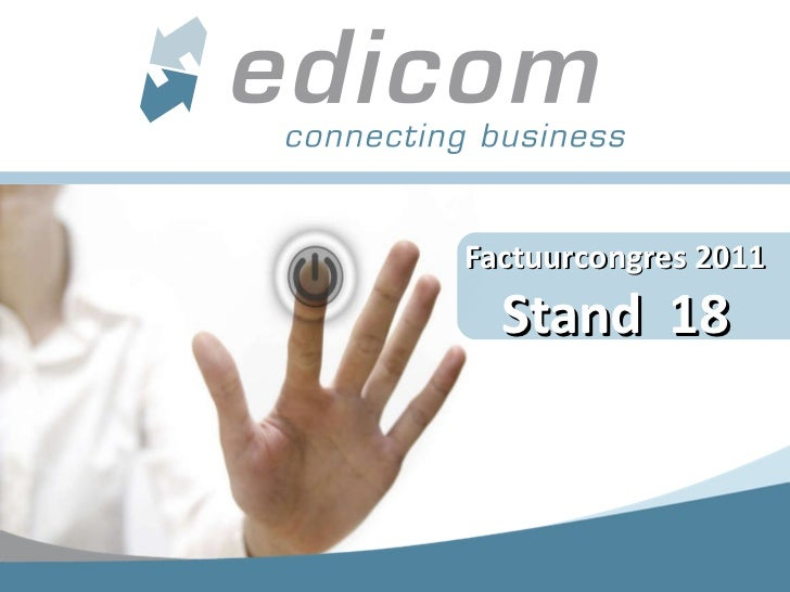 Commercial Edicom - Factuurcongres 2011