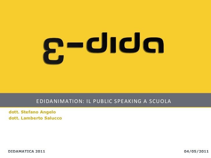 Edidanimation - Didamatica 2011