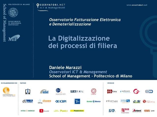 La digitalizzazione dei processi di filiera