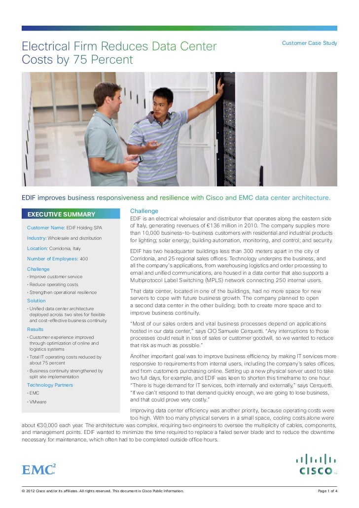 Electrical Firm Reduces Data Center                                                                                       ...