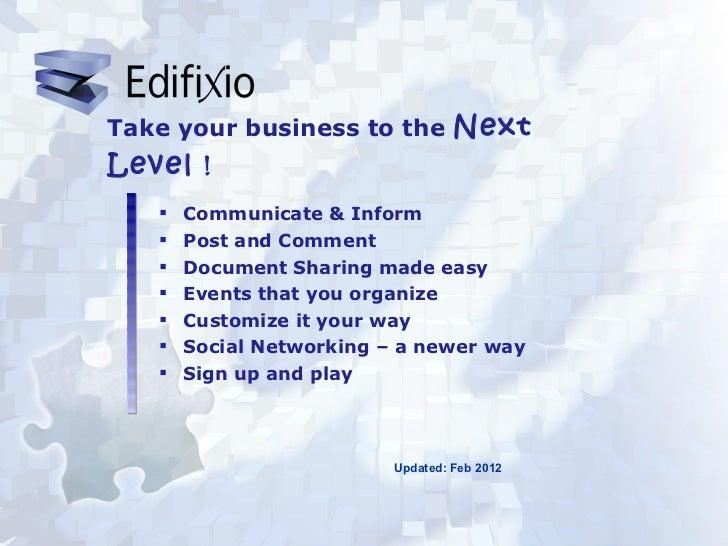 <ul><li>Communicate & Inform </li></ul><ul><li>Post and Comment </li></ul><ul><li>Document Sharing made easy </li></ul><ul...