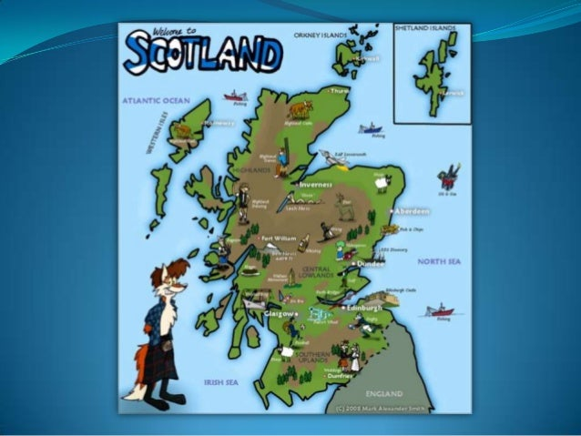Scotland is part of Great Britain to the north of England.  Scotland is a mountainous country washed by the North Sea in t...