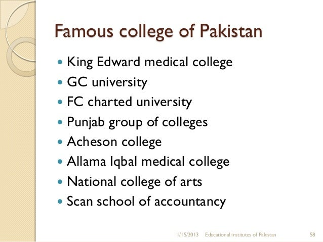 Accountancy Colleges In Pakistan