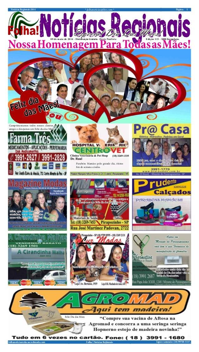 Notícias Regionais 2014 * folhanoticias@live.com * 1Página: Ligue e anuncie: (18) 99708 5337 .Folha   Notícias Regionaisfo...
