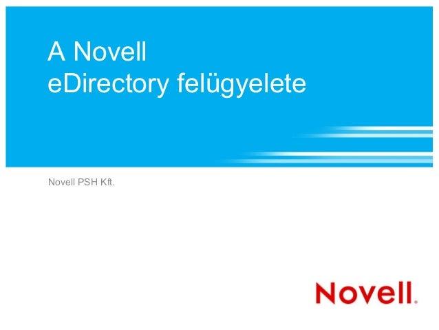 Novell eDirectory felügyelete