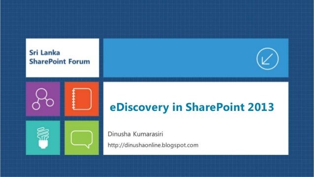 eDiscovery in SharePoint 2013