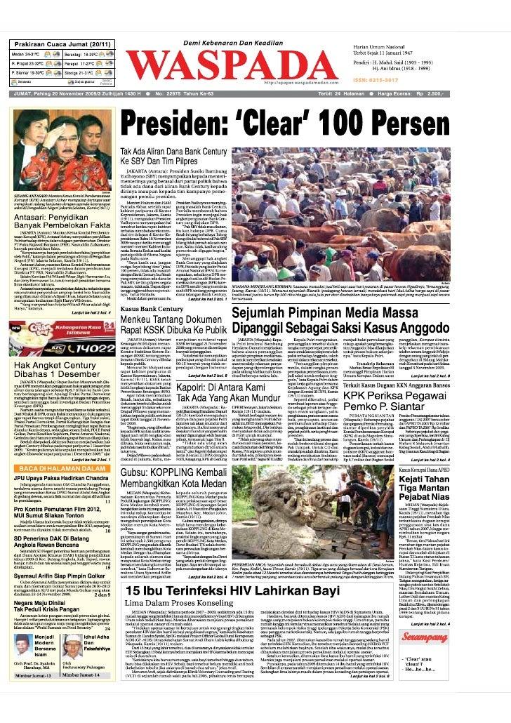 WASPADA  Jumat  20 November 2009                                                                                          ...